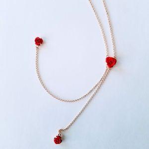 Torrid Rosette Gold-tone Y Necklace